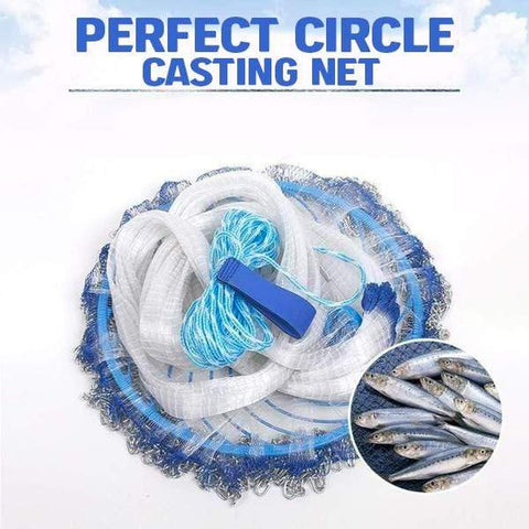 10ft Perfect Circle Fishing Casting Net.