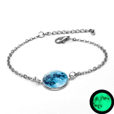 Image of 2 Moon Charm Bracelet Glow In The Dark