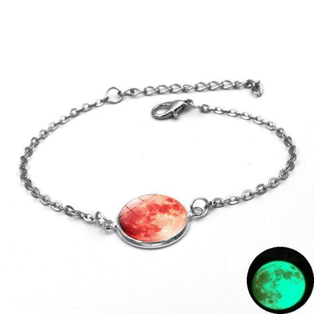 3 Moon Charm Bracelet Glow In The Dark