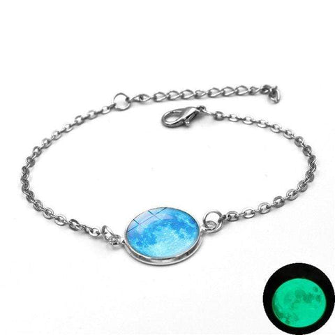 Image of 4 Moon Charm Bracelet Glow In The Dark