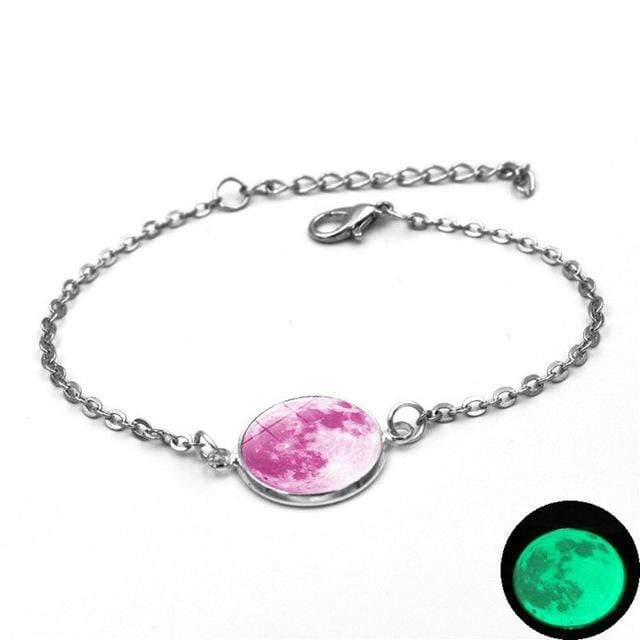 5 Moon Charm Bracelet Glow In The Dark