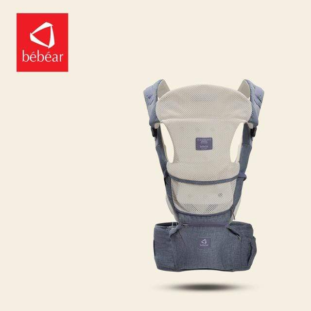 6 in 1 Baby Back Carrier Grey / OneSize Baby Back Carrier For Newborn Babies 6 in 1