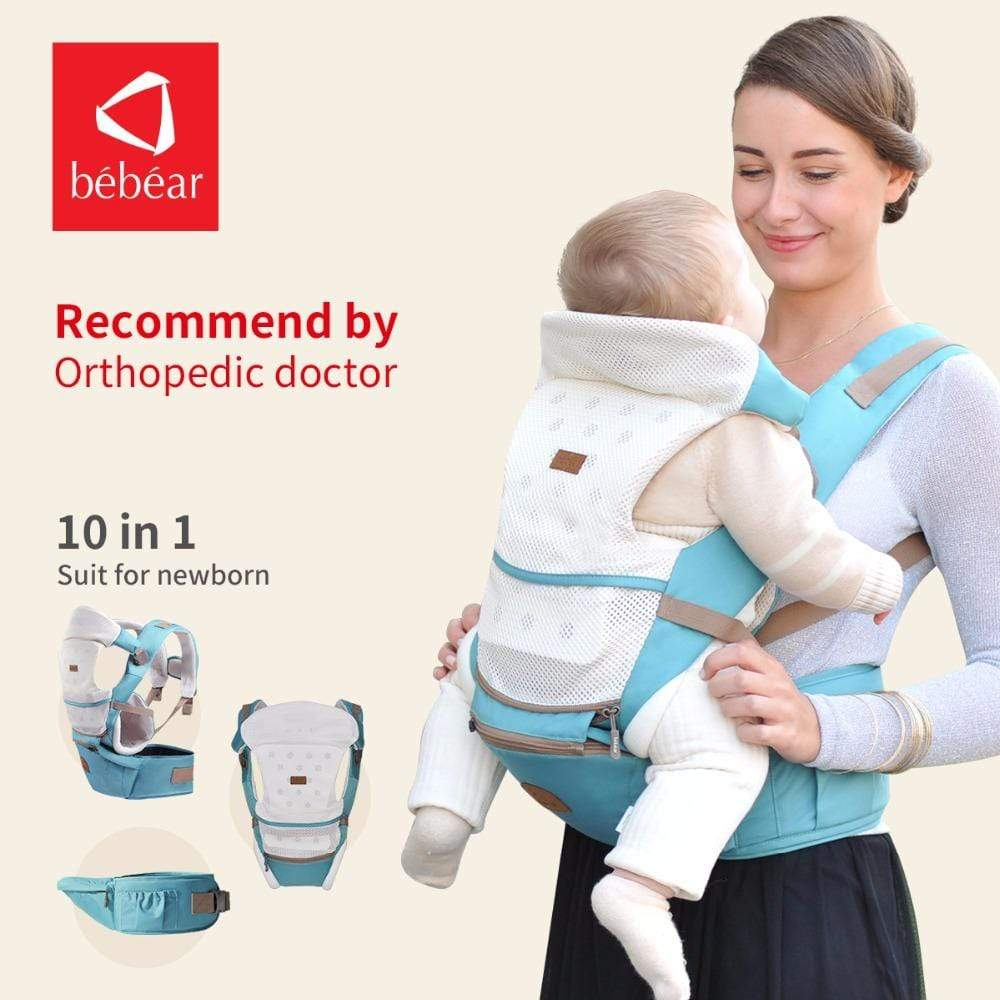 6 in 1 Baby Back Carrier Sky blue / OneSize Baby Back Carrier For Newborn Babies 6 in 1