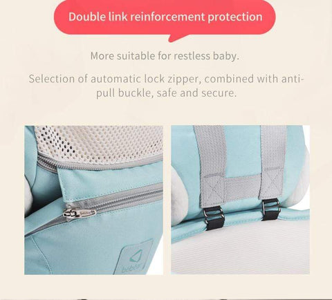 Image of 6 in 1 Baby Back Carrier Sky blue / OneSize Baby Back Carrier For Newborn Babies 6 in 1