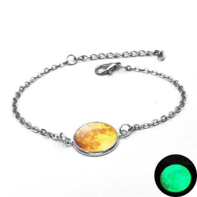 6 Moon Charm Bracelet Glow In The Dark