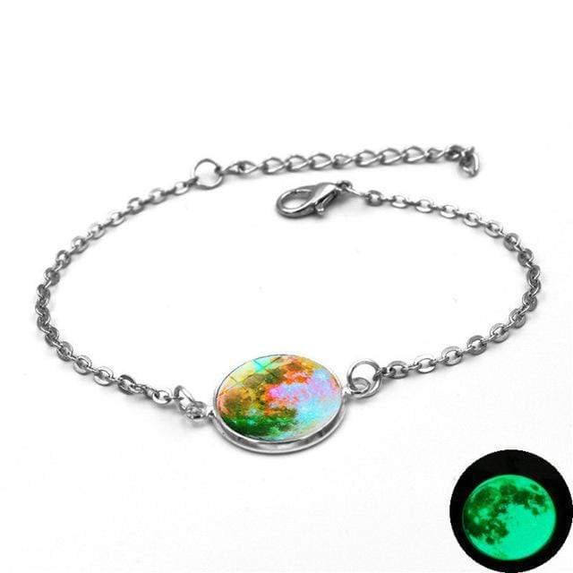 7 Moon Charm Bracelet Glow In The Dark