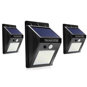 8 LEDs / 1 Piece Solar Motion Sensor Wall Light
