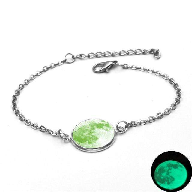 8 Moon Charm Bracelet Glow In The Dark