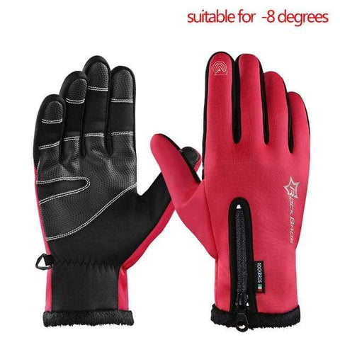 ANTI-SLIP WINTER GLOVES - THERMAL & WINDPROOF B red / L Men's Winter Driving Gloves