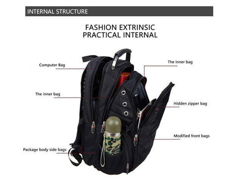 Anti theft Waterproof USB Backpack