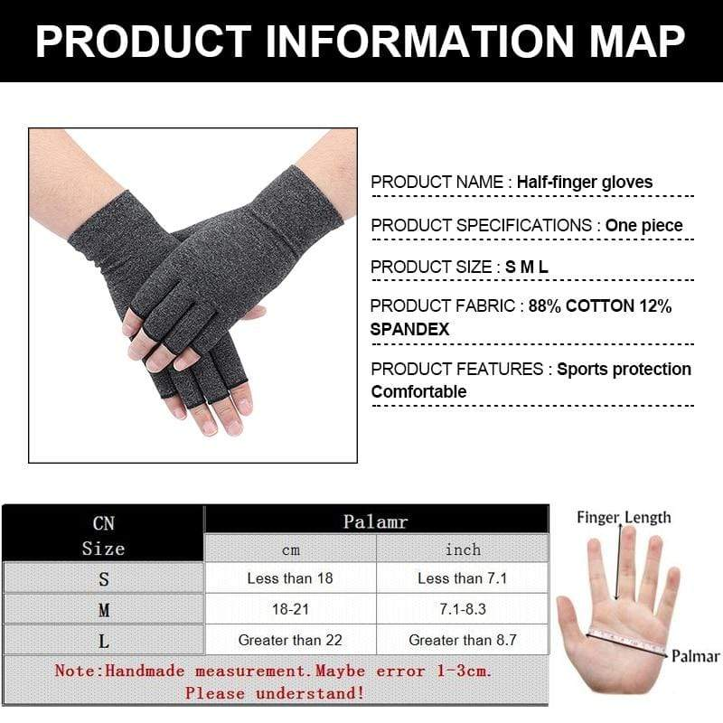 Arthritis Gloves Gray / XL ***USA ONLY*** Arthritis Compression Gloves