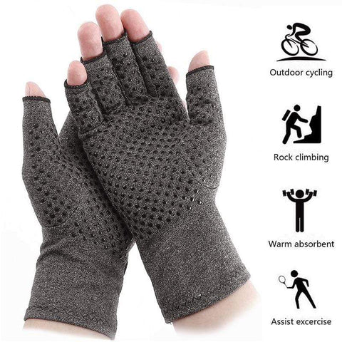 Image of Arthritis Gloves Gray / XL ***USA ONLY*** Arthritis Compression Gloves