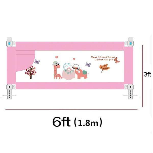 Baby Bed Fence Guards 6ft Pink Baby Bed Fence Rail Guards