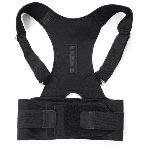 Image of Back Support Posture Brace Black / M Posture Support Back Brace