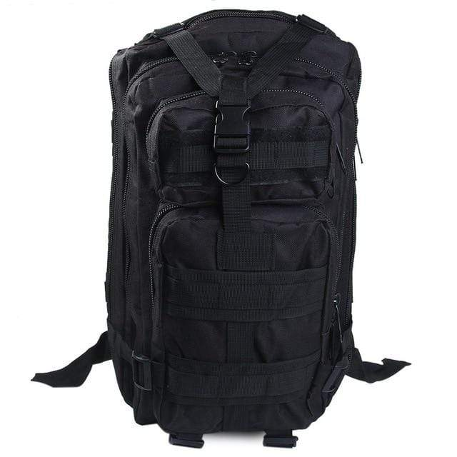 BLACK / 30 - 40L Military Rucksack