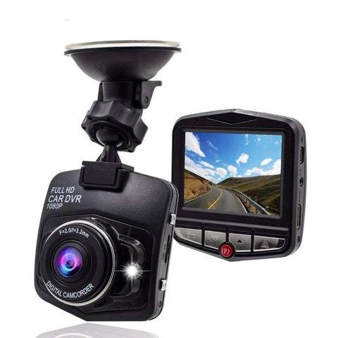 Black / Car DVR No Card 1080p HD DVR Dash Camera With Night Vision