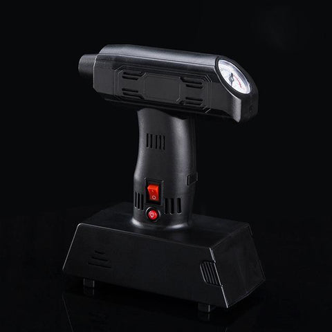 Image of Black Portable Tire Inflator Pump with LED Lighting