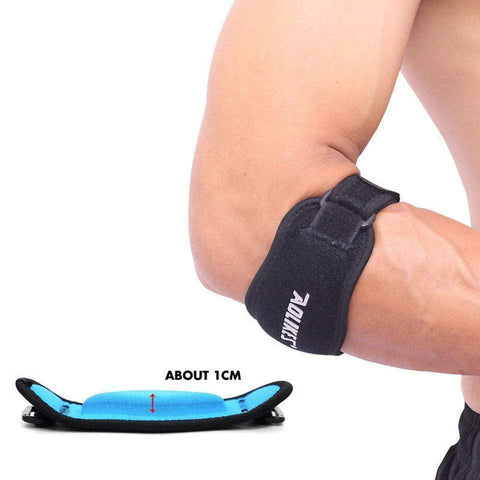 Image of Black with blue Tennis Elbow Support Brace