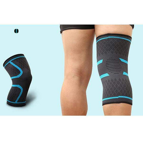 Image of Blue / XL Compression Knee Support Sleeve Brace
