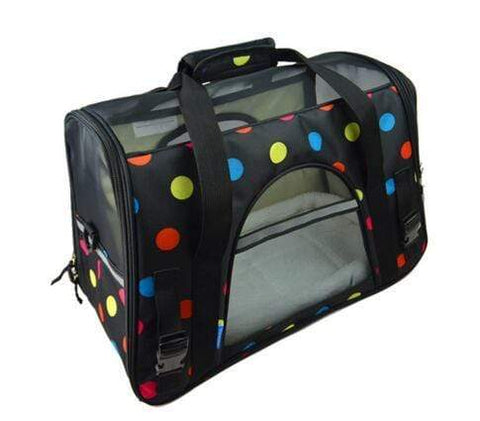 Breathable Pet Carrier Bag dots print / S Breathable Pet Carrier Bag