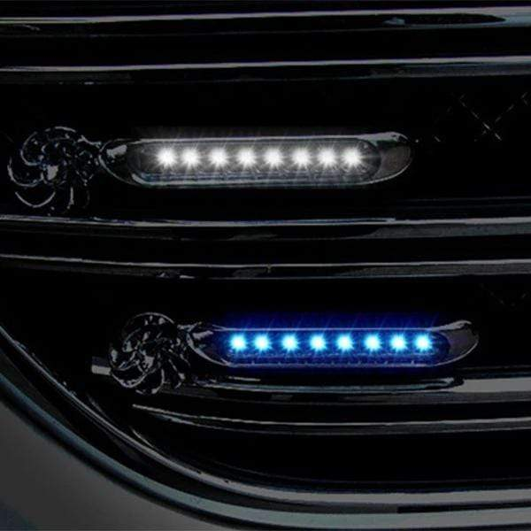 Car Decoration Lights Automatic Wind Power 8 LED Car Light One Set of 2 PCS