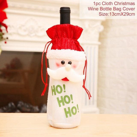 Christmas Wine Holders Green old man Christmas Wine Bottle Covers