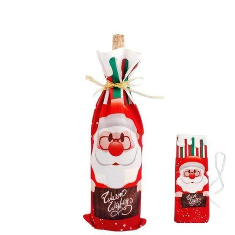Christmas Wine Holders Santa Claus 2 Christmas Wine Bottle Covers
