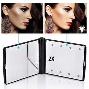Portable Compact LED Mirror