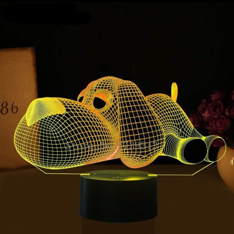 Dog 3D Nightlight Nightlamp Kids Doggy 3D Visual LED Multicolor Night light