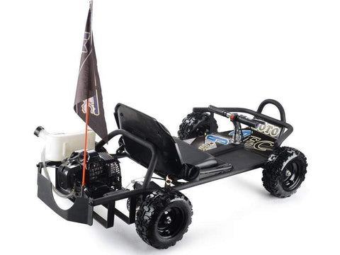 Electric Go Kart 52x30x14 inches / Black Electric Go Kart  For Kids