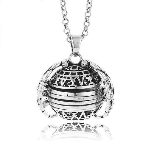 Expanding Photo Locket Antique Silver Plate Expanding Photo Locket