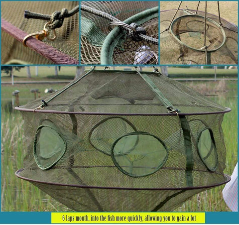 Image of Folding Fishing Net for Crabs, Crawfish , Minnow, Lobster and more!