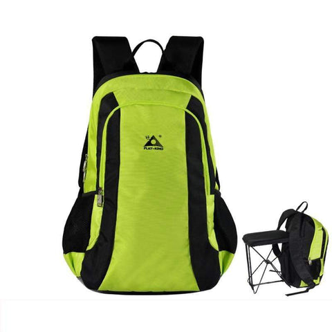 Image of Folding Seat Travel Backpack Green Color Folding Seat Travel Backpack