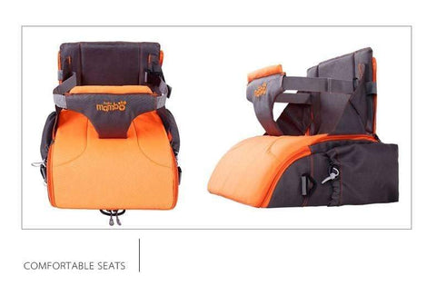 Image of green 2 IN 1 Portable baby Booster Seats And Diaper Bag