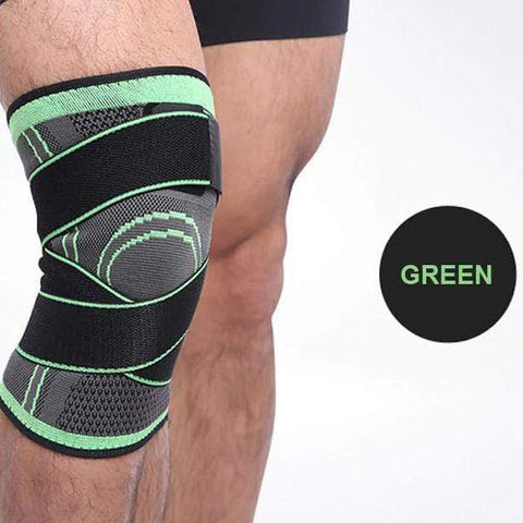 Image of Green / S Pressurized Knee Support Brace 3D - All Sizes