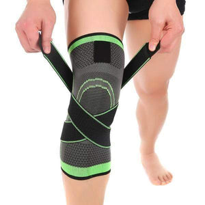 Green / S Pressurized Knee Support Brace 3D - All Sizes
