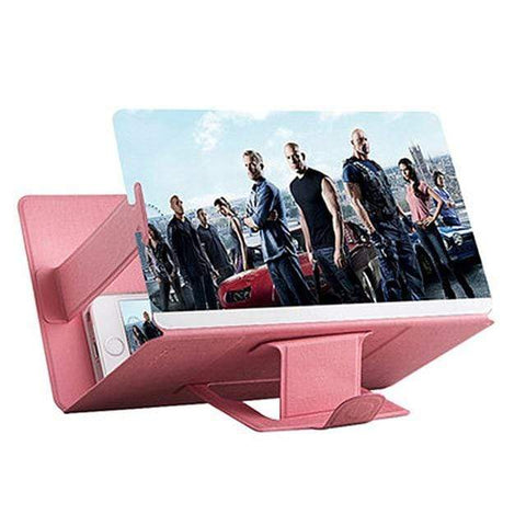 HD Stereoscopic Mobile Phone Screen Magnifier pink HD Stereoscopic Mobile Phone Screen Magnifier