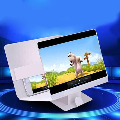 Image of HD Stereoscopic Mobile Phone Screen Magnifier white HD Stereoscopic Mobile Phone Screen Magnifier