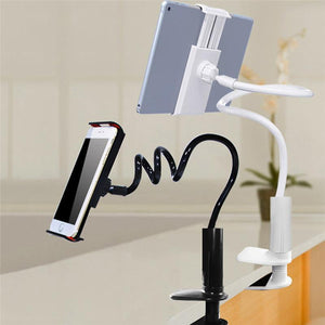 Household black IPAD, IPHONE 360 degree Flexible Arm. Stand and mount.