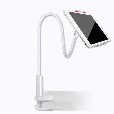 Household white IPAD, IPHONE 360 degree Flexible Arm. Stand and mount.