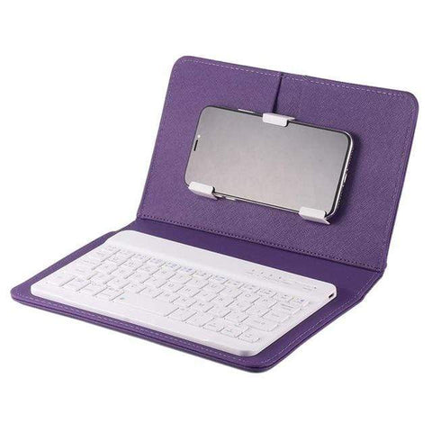 Image of Iphone Keyboard purple Mini iPhone -Android Bluetooth Keyboard