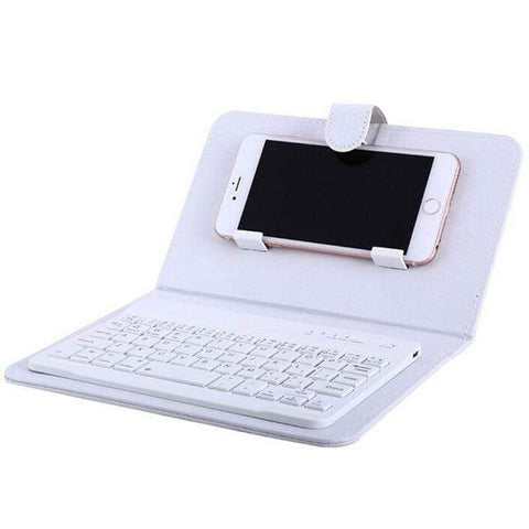 Image of Iphone Keyboard white Mini iPhone -Android Bluetooth Keyboard