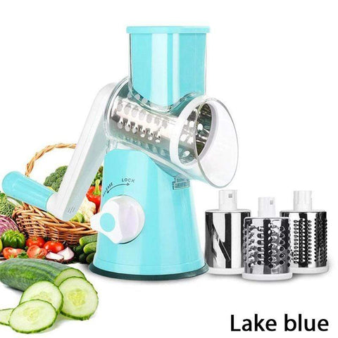Image of Kitchen Blue Spiralizer 3-Blade Vegetable Slicer® - SAVE 55% TODAY