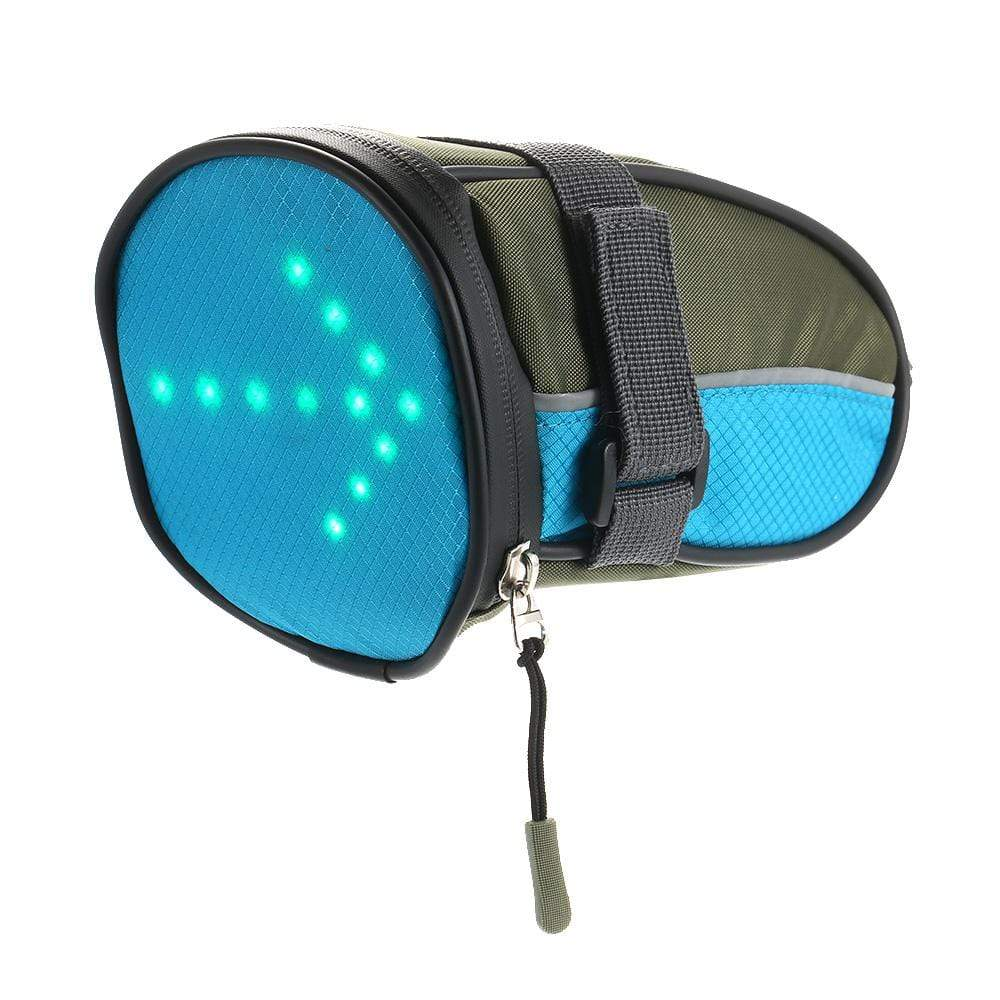 LED Cycling Saddle Bag Green LED Cycling Saddle Bag