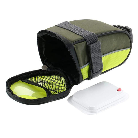 Image of LED Cycling Saddle Bag Green LED Cycling Saddle Bag