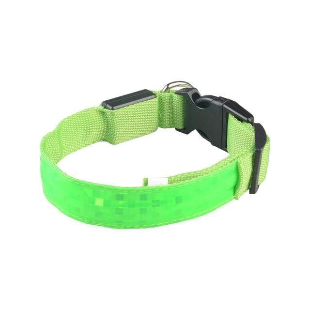 LED Dog Safety Collar Green / 2.5 x 45-52cm LED Dog Safety Collar