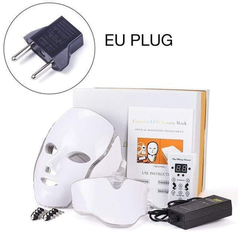 Image of LED Facial Mask Therapy EU Plug LED Facial Mask Therapy