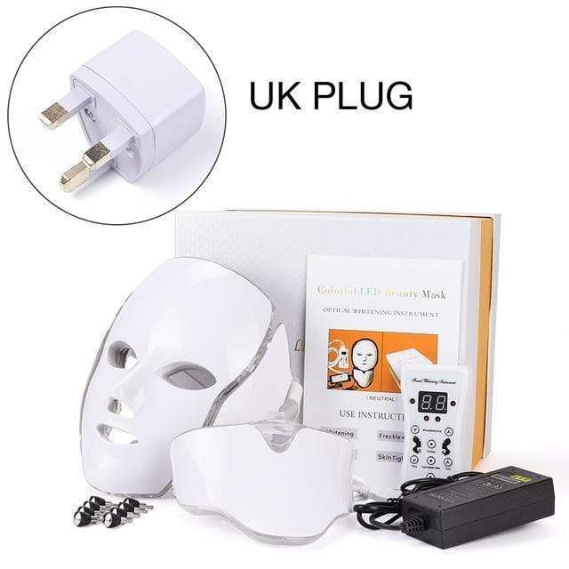 LED Facial Mask Therapy UK Plug LED Facial Mask Therapy