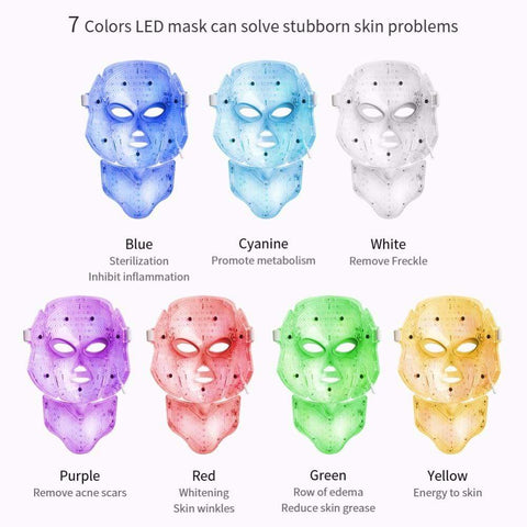 Image of LED Facial Mask Therapy US Plug LED Facial Mask Therapy