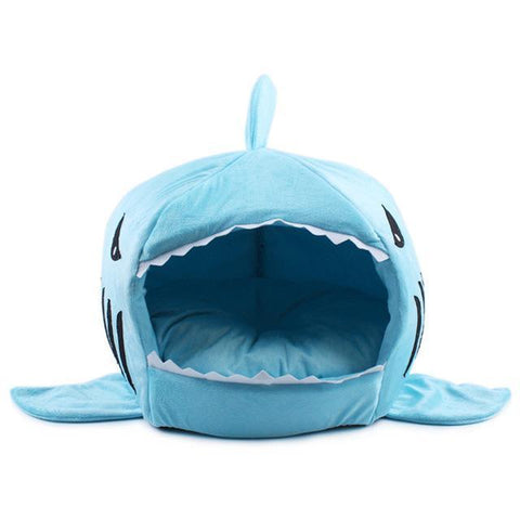 Light blue / S Shark Pet Bed